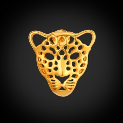 Hollow Lion Head Brooches For Women Men 18k Gold Platinum Plated Brooches And Pins Hiphop Jewellery 18k gold plated one size