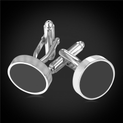 Round Easy Design Cuff Links For Men 18k Gold/Platinum Plated Cufflinks Shirt Fashion Men Jewellery Platinum Plated