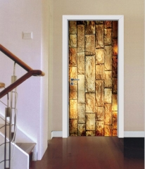 3D Stereo Door Mural Sticker Brick pattern 38.5*200cm