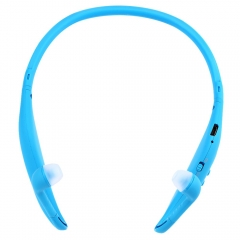Sport Bluetooth 4.0 Stereo Headset Earphone Support FM Radio TF Card Playing Blue
