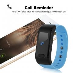 Excelvan Smart Bracelet Waterproof Bluetooth Wristband Blue One Size