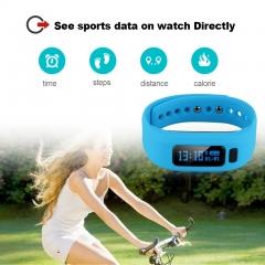Excelvan Smart Bracelet Bluetooth V4.0 Wristband Blue One Size