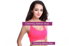 Pink XL Women Vest Running Sports Bra Top with Adjustable Strap ABR3950