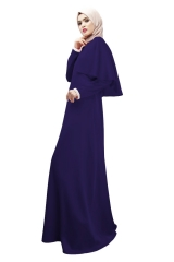 New Muslim Women's Dress Cape Slim Skirt blue m