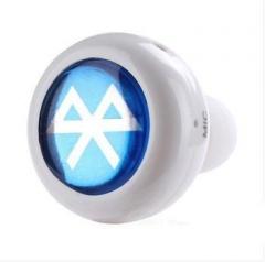 Super Mini Wireless Handfree Bluetooth Earphone with earhook White Universal Fit