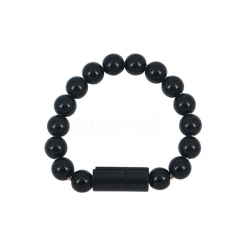 USB Cable Hand Chain Bead Bracelet Phone Charging-Black