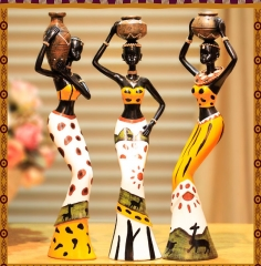 Creative Home Decoration resin figure doll ornaments African crafts new home living room Decoration