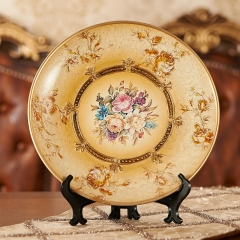 decorative home accessories crafts ornaments plate Yellow flower one