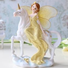 Angel ornaments home decorations TV cabinet Continental crafts creative wedding birthday gift Gold one