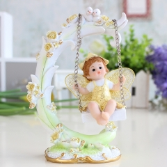 Pastoral little angel ornaments decorations creative crafts birthday gift doll children's bedrooms Gold one