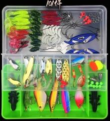 Set of Luya bait 101 sets of multi - functional full - swimming fishing gear bait