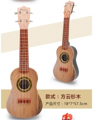 Children early learning instrument 21 inch ukulele uukulei beginner guitar four strings guitar toys wood color one size