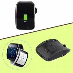 Plastic Charging Dock Charger Cradle For Samsung Galaxy Gear S Smart Watch SM-R750 Black 1 pcs