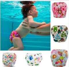2Pcs Swim Diaper, Swimwear for Boys&Girls Reusable Board Short Trunks Baby Swim Diaper