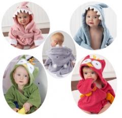 5 Colors100% Cuttons Hooded Animal Baby Bathrobe Cartoon Baby Towel