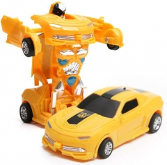 Deformation Robot, Distortion Toys One Key Deformation White 11.5*5*3.5cm