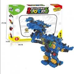Building Blocks, Tyrannosaurus Rex blue-yellow 40*27*5cm