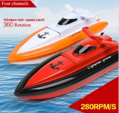 Racing Boat, Wireless High-speed Yacht Red 44*16*12 cm