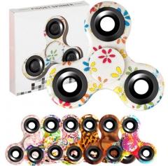 2Pcs Tri-Spinner Fidget Toys Mix-Color one size