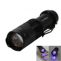 Mini SK68 395nm Purple Light Ultraviolet UV Flashlight Aluminum Alloy Black black one size no