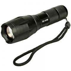 SS-A100 XM-T6 8W 950LM  5Mode Focus LED Zoomable Flashlight Torch Black black one size 8W