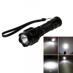 1200LM DT1 XML T6 10W 1LED 5Modes Flashlight Torch Waterproof Black Black 10W