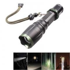 1000LM 3Modes XM-T6 LED Flashlight Waterproof White Light Aluminum Alloy Black Black 10W