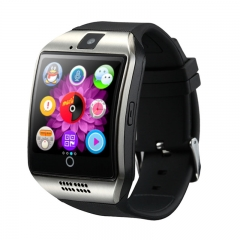 Q18 Bluetooth Smart Sport Wrist Watch Camera for Android Samsung Silver SIM Card as picture one size