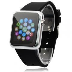 Smartwatch Atongm W009 Bluetooth Touch Screen Wristband Answer and Dial the Phone for Android IOS Black one size