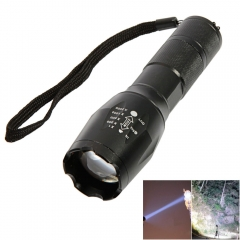 Bright 1200Lumen 5Mode T6 LED 18650 Flashlight Focus Lamp Camping Torch black one size