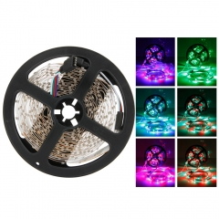 SMD 3528 5M LED RGB Flexible Strip Light Waterproof + IR44 Remote + Power as picture 500CM no