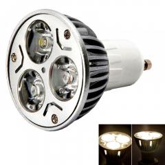 5Pcs GU10 3W 85-265V 380LM 3LED Pure White LED Lamp Spot Light Bulb Energy Saving as picture one size 3w