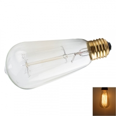 E27 40W ST64 19Anka Vintage Retro Industrial Edison Lamps Filament Lights Bulb Energy-Saving 230V as picture one size 40w