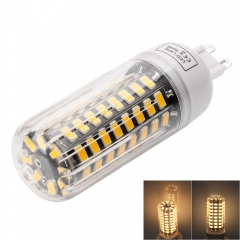 G9 9W 80LED 5733SMD Warm White LED Corn Lamp with Lampshade 220-240V as picture one size 9w