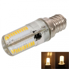E12 4W SMD3014 80Pcs LED 3000-3500K Warm White Light Dimmable Silicone Corn Light 200-240V as picture one size 4w