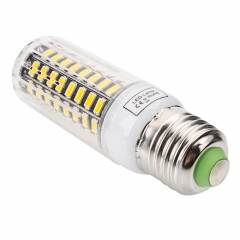 E27 9W 80-LED 5733SMD 3000-3500K Warm White LED Corn Lamp with Lampshade 220-240V as picture one size 9w