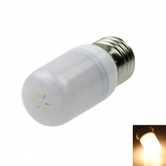E26 8W 42-SMD 5730 LED 800-1200LM 3000-3500K Warm White Light LED Bulb with Frosted Shell 12-16V as picture one size 8w
