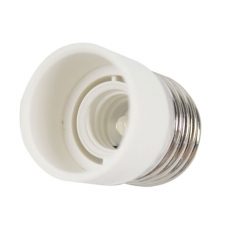 New E27 to E14 Base LED Light Lamp Bulb Adapter Converter Screw Socket white one size no