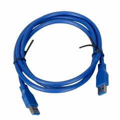 1.5M USB 3.0 A Male to A Male Extension Cable Super Fast Extension Cable Cord blue one size