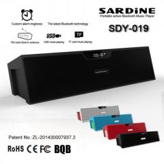 Wireless Bluetooth Sardine Sdy-019 Speaker Sound Box TF USB FM Radio Alarm New black one size