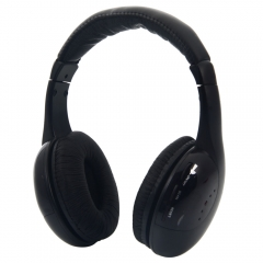 5 in 1 Wireless Headphone Earphone Black for MP3/MP4 PC TV CD FM Radio
