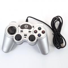 New USB Wired laptop PC Gamepad Controller Joypad Sensitive Joystick Silver