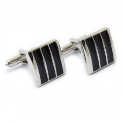 High Quality One Pair Enamel Cufflinks for Business Shirt as picture one size