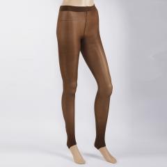 New Womens Sexy Tights Stirrup Pattern Stretch Pantyhose Free Size Coffee
