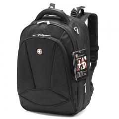 "Men's Women Classic Business Shoulder 15"" Laptop Backpack Waterproof Travel Bag black one size"