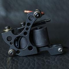 Zinc Alloy Body Material 10 Wrap Coil Shader Tattoo Machine Gun XHJ008A black