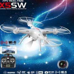 Syma X5SWSyma X5SW RC Quadcopter WIFI FPV 2.4Ghz 4CH 6-axis Drone HD Camera RTF white X5SW