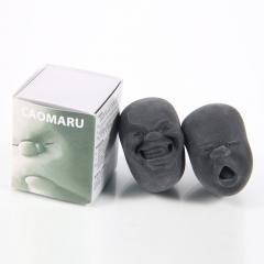 New Cao Maru Caomaru Vent Human Face Ball Anti-stress Ball of Japanese Design black one size