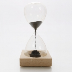 Magnetic Timer Sand Hourglass Desktop Filled iron Filings Decoration as picture one size