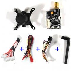 700TVL PAL/NTSC CMOS 5.8G FPV Butterfly Camera Lens w/ 600MW Transmitter RC Part black one size